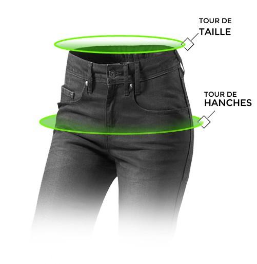 taille pantalon cuir moto