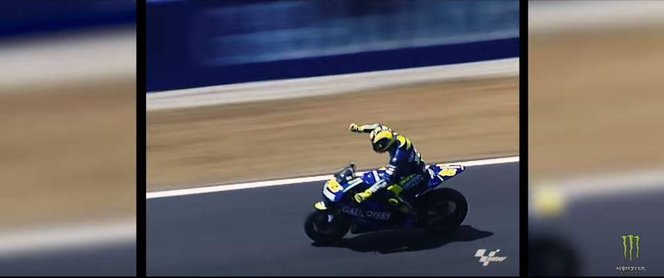 Rossi sur piste moto