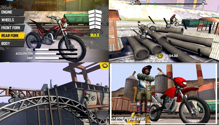 Captures écran smartphone jeu Trial Xtreme 4