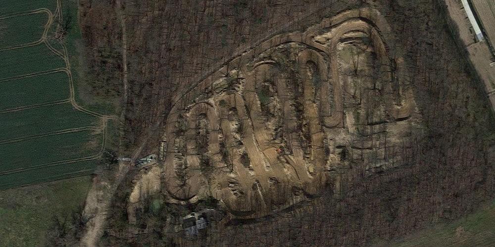 Vue aérienne du circuit de Machery