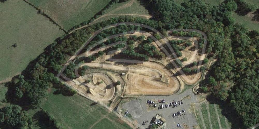 Vue aérienne du circuit de Reygades