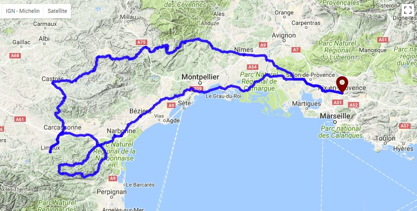 Itinéraire GPS pays cathare
