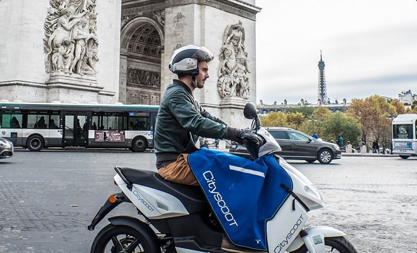 cityscoot paris en 2016 scooters lectriques en libre service. Black Bedroom Furniture Sets. Home Design Ideas